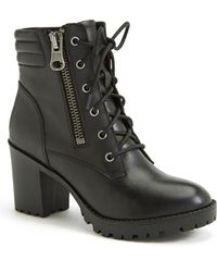 Steve Madden Women'S 'Noodless' Lugged Sole Boot - Lyst