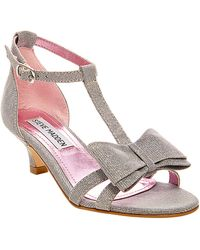Steve Madden Holly Metallic Bow Sandals - Lyst