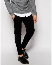Asos Skinny Joggers With Zip Detail - Lyst