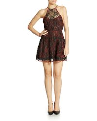 Free People Lace Halter Dress - Lyst