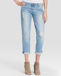 Kut From The Kloth - Adele Distressed Boyfriend Jeans In Slick - Lyst