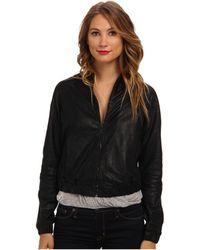 Joe's Jeans Raglan Leather Jacket - Lyst