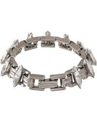 Dannijo Silver-Plated Crystal Bette Bracelet - Lyst