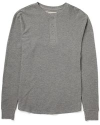 Levi's Long Sleeve Henley T Shirt In Waffle Fabric - Lyst