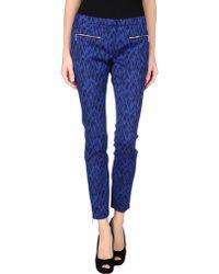 Matthew Williamson Blue Casual Pants - Lyst