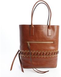 Marc Jacobs Brown Leather Cargo Tote Bag with Laced Eyelet Detail - Lyst