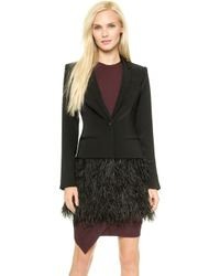 Elizabeth And James New Feather James Blazer - Black - Lyst