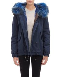 Mr. And Mrs. Italy Fur-Trim Hood Parka - Lyst