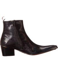 Jeffery West Gray Zip Boot - Lyst