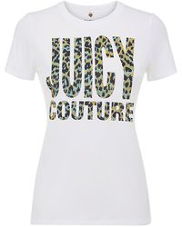 Juicy Couture Leopard Logo Relaxed Hoody - Lyst