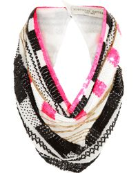 Finds -  Mignonne Gavigan Embellished Silk-chiffon Scarf Necklace - Lyst