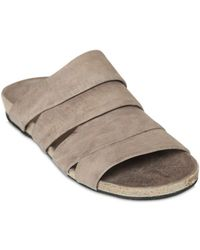 The Last Conspiracy - Fastvi Horse Leather Slide Sandals - Lyst