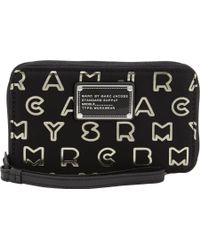 Marc Jacobs Dreamy Logo Wingman Wallet - Black