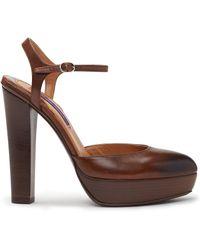 Ralph Lauren Calfskin Telma Sandal - Lyst