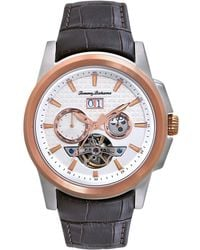 Tommy Bahama - Men'S Swiss Chronograph Cabo Brown Croco-Grain Leather Strap 42Mm Tb1247 - Lyst