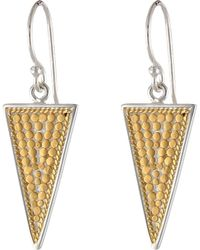 Anna Beck Triangle Earrings - Lyst