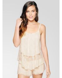 Ella Moss Luxe Lace Layer Cami - Lyst