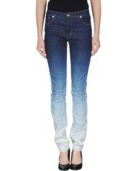 Acne Studios Blue Denim Trousers - Lyst