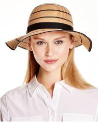 August Accessories - Stripes Abound Floppy Hat - Lyst