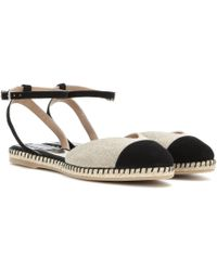 Tabitha Simmons Sebille Canvas And Suede Sandals - Lyst