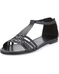 Cole Haan Cady Strappy Flat Sandal black - Lyst