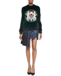 Mary Katrantzou Pleated Geo-cutout Skirt - Lyst