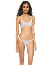 Natori Feathers Front Close Bra - Lead Silver - Lyst
