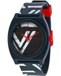 Nixon Navy/Coral The Time Teller Watch - Lyst