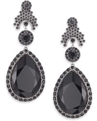 Givenchy | Victorian Large Crystal Clip-on Drop Earrings | Lyst