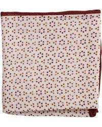 Brunello Cucinelli Fancy Dot Pocket Square - Lyst
