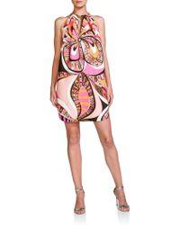 Emilio Pucci Chain Halter Dress pink - Lyst