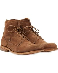 Officine Creative Suede Lace-Up Boots - Lyst