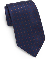 Saint Laurent Droplet Embroidered Silk Tie - Lyst