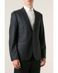 Mr Start Cheshire Charcoal Wool Flannel Jacket - Lyst