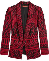 Alice + Olivia Christian Embroidered Silk Blazer - Lyst