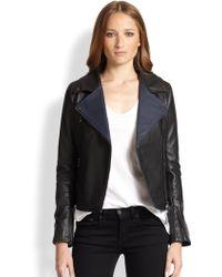 Lot78 Zoe Nappa Leather Biker Jacket - Lyst