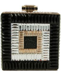 Judith Leiber Couture Cube Crystal Clutch Bag - Lyst