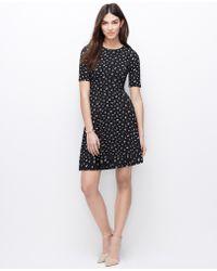 Ann Taylor Petite Mini Daisy Flare Dress - Lyst
