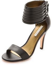Twelfth Street by Cynthia Vincent Callie Ankle Cuff Sandals Black - Lyst