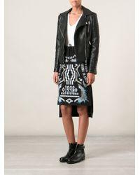 Marcelo Burlon County Of Milan Printed Asymmetric Skirt - Lyst