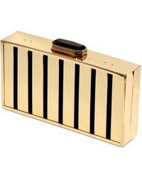 Oui, Odile! Jaqueline Gold Plated Brass Clutch - Metallic