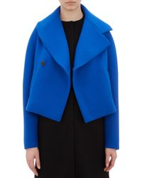 Balenciaga Wool Crepe Double-breasted Jacket - Lyst