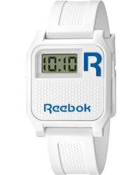 Reebok Women'S Digital Vintage Nerd White Polyurethane Strap Watch 35Mm Rc-Vne-U9-Pwpw-Wl