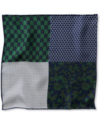 Banana Republic | Four-in-one Military Silk Pocket Square | Lyst