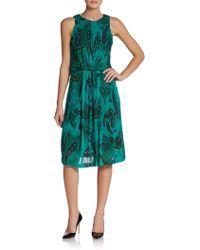 Etro Paisley Print Pleated Dress - Lyst