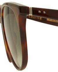 Celine Tortoiseshell Thin Frame Sunglasses - Lyst