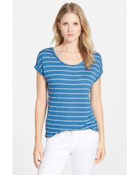 Two By Vince Camuto Braid Trim Stripe Tee - Lyst