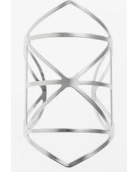 Topshop Cutout Cuff Bracelet - Lyst