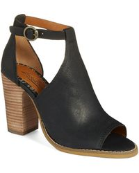 Lucky Brand Lanne Cut-Out Booties - Lyst