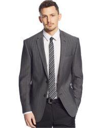 DKNY Grey Herringbone Extra Slim-Fit Sport Coat - Lyst